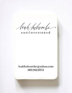 Custom Business Card and  Label Stamp MADE TO ORDER. $95.00, via Etsy.