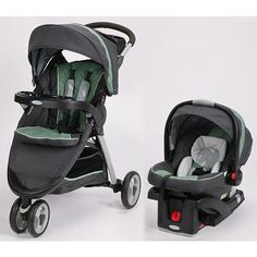 """Graco Fast Action Fold Sport Click Connect Travel System Stroller - Greenhill - Graco - Babies """"R"""" Us"""