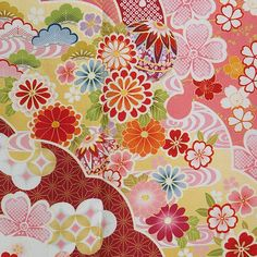 Chinese Patterns, Japanese Patterns, Japanese Design, Japanese Textiles, Japanese Fabric, Fabric Patterns, Flower Patterns, Fabric Design, Pattern Design