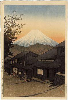 """Yui, Suruga"" by Hasui, Kawase"
