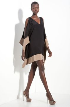 Kimono in black dresses | Jay Godfrey Enzo Kimono Sleeve Dress in Black (black/ taupe)