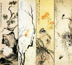 Birds on The Tree Chinese Style Wall Mural, 7-Feet 9-Inch By 6-Feet 12-Inch - Amazon.com