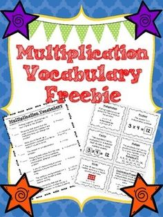 Looking for a great way to introduce multiplication vocabulary? Here are interactive notebook vocabulary cards and a vocabulary assessment! Complete with the properties of multiplication!  If you enjoy this product be sure to check out my whole multiplication mini unit!http://www.teacherspayteachers.com/Also be sure to rate this product and follow me for more great updates on new products!