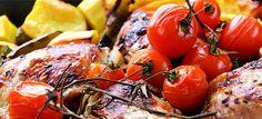 Lekker malse kip met groenten uit de oven
