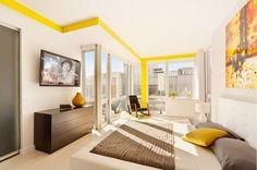 Sliding Down A Double Level New York Penthouse :: Interior Design Photos New Ideas Exhibition New York Penthouse, Luxury Penthouse, Home Interior, Modern Interior Design, Interior Styling, Beautiful Modern Homes, Beautiful Interiors, Slider, Inside Design