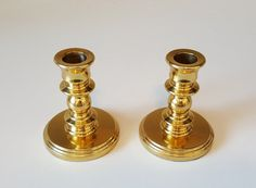 Solid Brass Vintage Candlestick Set, Heavy, Taper Candle, made in Canada by on Etsy Candlestick Holders, Candlesticks, Retro Vintage, Vintage Items, Wash N Dry, Country Of Origin, Recycled Materials, Bone China, Solid Brass