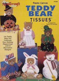 Teddy-Bear-Tissues-Plastic-Canvas-Pattern-Booklet-The-Needlecraft-Shop-973390