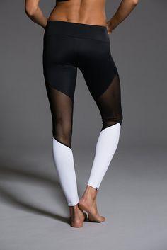 Track Legging - Black   Black Mesh   White by Onzie  6a4c29a3c2b