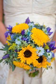 dusty blue lavender sunflowers - Google Search