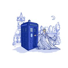 Get This Parody Cinderella / Doctor Who / Disney Design now at TeeFury.com! Available in Men and Women's sizes.