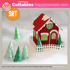 ... house with a battery operated tea light (fun for a Christmas Village