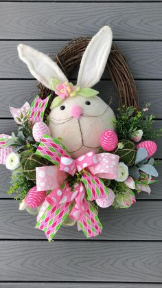 Easter Tree Decorations, Easter Wreaths, Easter Decor, Decorating For Easter, Bunny Crafts, Easter Crafts, Easter Bunny, Easter Eggs, Wreath Crafts