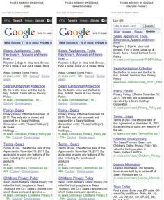 Comparing Mobile Search Results Side By Side - Here is a picture that compares site indexing for m.cmt.com (with no geo-data) on a desktop, smartphone and WAP phone. What you will notice is that the desktop and smartphone results are identical, but the WAP results have different pages included, with a different order, and even a different SERP template. #mobile