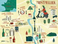 Gary Venn Illustration: Montpellier map...