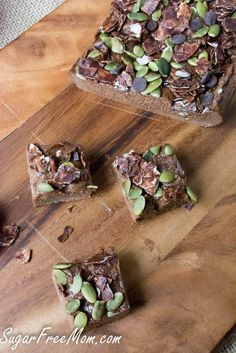 No Bake Sugar-Free Chocolate Pumpkin Protein Fudge