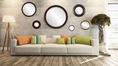 Mirrors, Mirrors and More Mirrors Round Mirrors, Framed Mirrors, Wall Mirror, Mirrored Furniture, Luxury Furniture, Room Wall Decor, Living Room Decor, Modern Mirror Design, Mirror Store