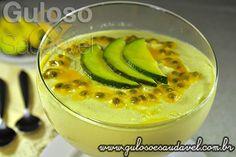 Receita de Mousse de Abacate e Maracujá