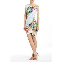 BCBGMAXAZRIA - DRESSES: WEAR TO WORK: DELL SHIRRED ZIPPER COCKTAIL DRESS