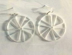3d printed earrings Peppermint Swirl | Layerfied on Etsy