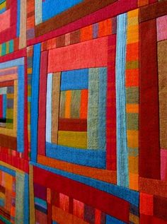 """""""Scrap Bag Pressed Quilts"""" I had a lovely visit around the blog learning about this quilt and others made by Victoria Gertenbach. S"""