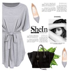Shein contest by mell-2405 on Polyvore featuring polyvore fashion style Jimmy Choo CÉLINE Chanel clothing