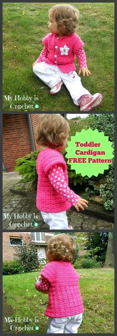 My Hobby Is Crochet: Little Girl's Cardigan with Short Sleeves - Free Pattern