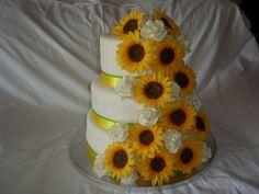 svatební dort slunečnice,Wedding cake sunflower