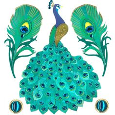 Jolees Boutique® | Peacock Stickers