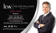 Realtor Business Cards For Keller Williams Real Estate Agents - www.printifycards.com #printifycards