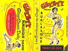 True Burlesque of the week is the lovely Gayety Theater in Miami on Collins Avenue! Used briefly in a shot in television show Miami Vi. Funny Shoes, Ghost In The Machine, Vintage Stockings, Figure Poses, Call Art, Light My Fire, Miami Fashion, Photo Magnets, Pin Up Art