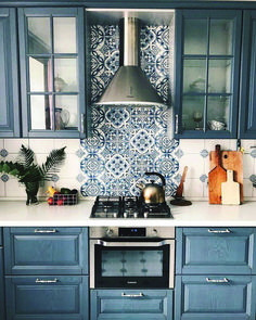 Most Popular blue kitchen cabinets images one and only homestre.com