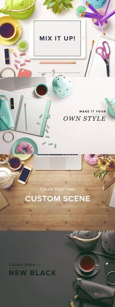 Custom Scene - Feminine Ed. - Vol. 1 by Román Jusdado on Creative Market