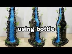 How To Make Fountain Waterfall Show Piece Material Glass Bottle