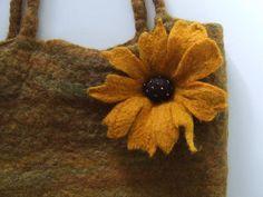 Autumnal Felted Bag by fibrespace, via Flickr
