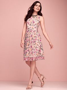Shop Embroidered Lace Fit & Flare Dress. Find your perfect size online at the best price at New York & Company.