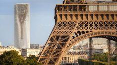 MAD navrhli přestavbu Tour Montparnasse s odrazem Eiffelovy věže