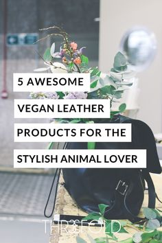 vegan leather products for an animal friendly closet. ethical fashion - eco-fashion