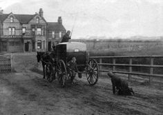 Two boys discovered after having hitched a lift. Station Hotel in background. Bishop Auckland, Strange Photos, Sunderland, Historical Pictures, Old Pictures, 21st Century, Antique Cars, The Past, England