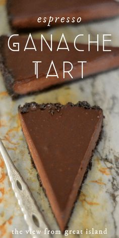 My Espresso Ganache Tart is a rich and decadent tart with a deep flavor and silky texture. It's truffle, meets fudge, meets mousse, with a jolt of caffeine! #easy #recipe #dessert #chocolate #coffee #ganache Valentine Desserts, Köstliche Desserts, Delicious Desserts, Dessert Recipes, Yummy Food, Easy Tart Recipes, Pastries Recipes, Pie Recipes, Chicken Recipes