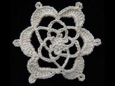 Lindo diseño de flor en Crochet
