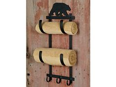 Bear towel rack