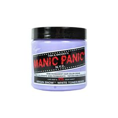 Manic Panic Classic snow hair dye - virgin snow hair dye - Manic Panic... ($14) ❤ liked on Polyvore featuring beauty products, haircare, hair color, fillers, hair, makeup, beauty and hair stuff