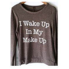 • Wake Up Sweatshirt • Are you always ready to party and always ready to show off? This is perfect for you! Show off your style while keeping warm in this very soft sweater! Crew neck, scoop style. grey color. 36% cotton, 34% spun poly, 19% rayon, 11% polyester. PLEASE DO NOT purchase. Comment size below and I'll make a listing for you! Jennifer's Chic Boutique Sweaters Crew & Scoop Necks
