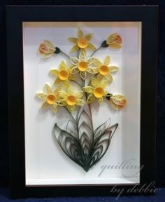 Daffodils Framed Quilling Piece