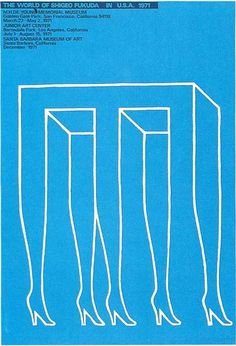 Shigeo Fukuda - I think its smart how the optical illusion aspect to the design keeps me staring at it trying to make sense of it. Illustration Photo, Graphic Design Illustration, Graphic Art, Design Visual, Design Art, Lettering, Typography Design, Jr Art, Design Graphique
