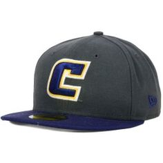 Style: 20326146,Color: Graphite / Navy, Made of 80% Polyester, Woven, 20% Wool, Woven, Fitted, Structured Fit, Mid Crown, Normal Bill with Letter Design, Medium Raised Embroidery on Front Middle, Flat Embroidery Letter on Back Center This 59FIFTY fitted cap features an embroidered (raised) Tennessee Chattanooga Mocs team logo on the front, stitched New Era flag at wearer's left side, and embroidered secondary logo on the rear. Interior includes branded taping and a moisture absorbing…