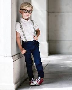 So trendy. The glasses add a nice touch.