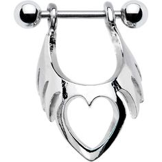 Stainless Steel Tribal Heart Cartilage Earring