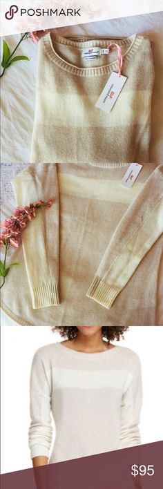 Cashmere Vineyard Vines Sweater 🍁Classic sweater.🍁The cashmere and wool mix is super soft and light.  Brand new with tags.  Perfect gift or a treat for yourself ! Offers always welcome. Vineyard Vines Sweaters