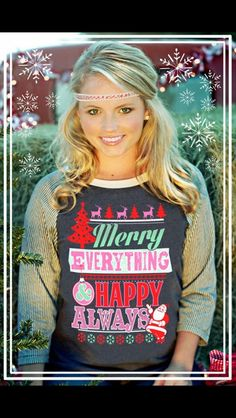 Merry Everything T-Shirt $43 AnchoredSoulDesigns@gmail.com